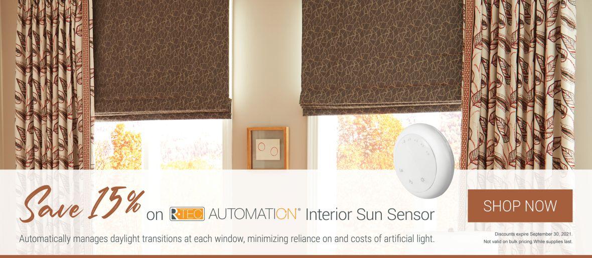Save 15% on R-TEC Automation Interior Sun Sensor