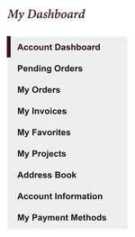 My Account Dashboard