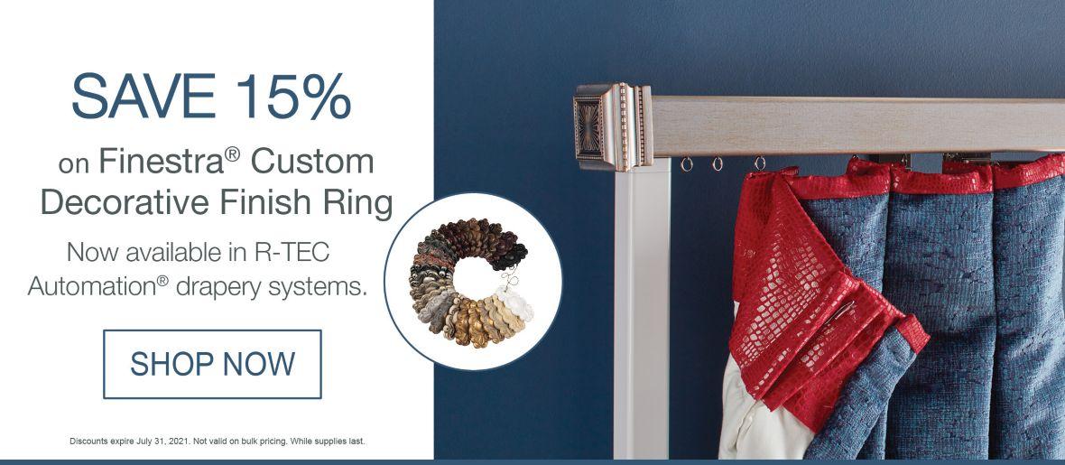 Save 15% on Finestra Custom Finish Sample Ring