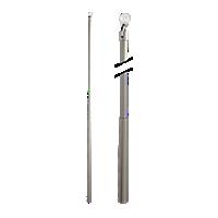 "Metal Baton with Plastic Attachment - 36"" /SN"