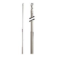 "Metal Baton with Steel Clip - 36"" /BN"