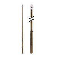 "Metal Baton with Plastic Attachment - 48"" /AB"
