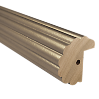 "2"" Fluted Fascia 4' Baton Draw /AS"