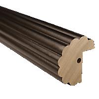 """2"""" Fluted Fascia 4' Baton Draw /BZ"""