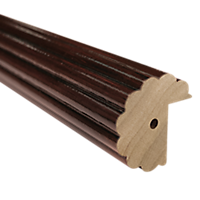 "2"" Fluted Fascia 4' /Baton Draw /TB"