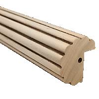 """2"""" Fluted Fascia 4' Baton Draw /TK"""