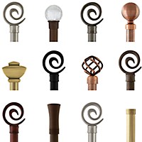 AriA Metal Finials - Clearance