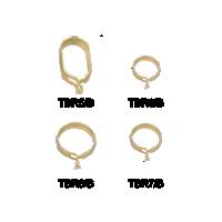 Brass Finish Café Rings