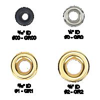 Brass Round Grommets #00 - #2