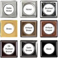 Brass Square Grommets #12
