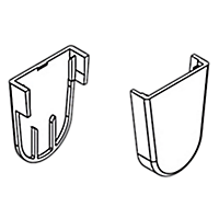 End Caps for Brackets - for RC21, White