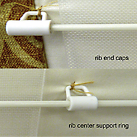 Sure-Shade™ Rib End Cap & Center Support Rings