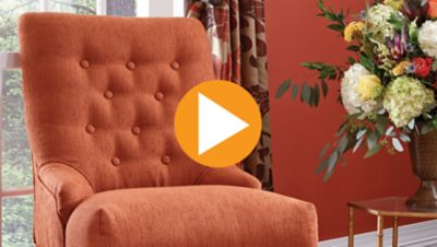 Upholstering an Accent Chair in Two Pieces with Button Details