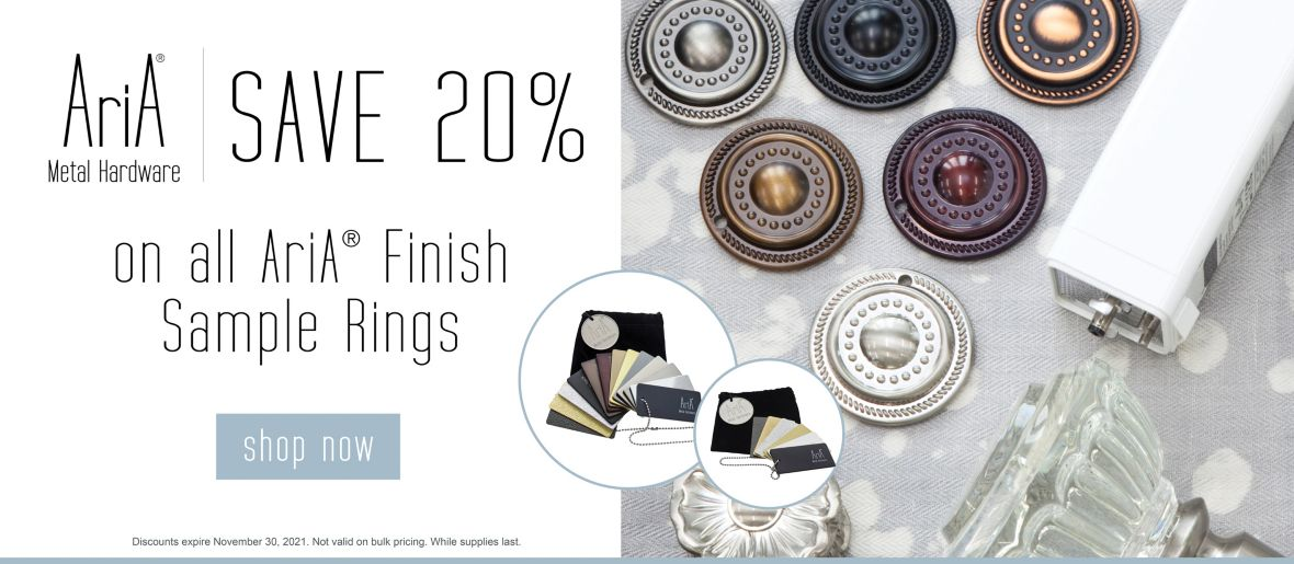 Save 20% on all AriA Finish Sample Rings