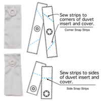 Snap Strip Packs for Duvets