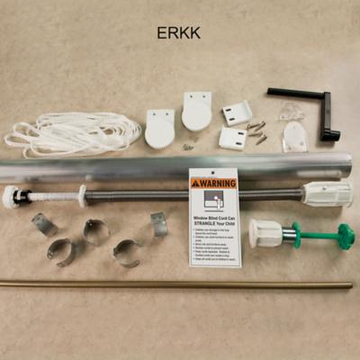 EZ Rise Cordless Roman Spring Shade with Encased Lift Cord Starter Kit