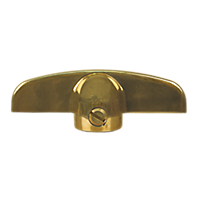 T-Handle - 11/32'', Bright Brass, Truth/Wright